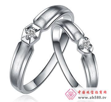 心心之恋---白18K金-8分钻石对戒