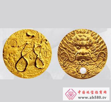 十二生肖兽首之龙首大金章