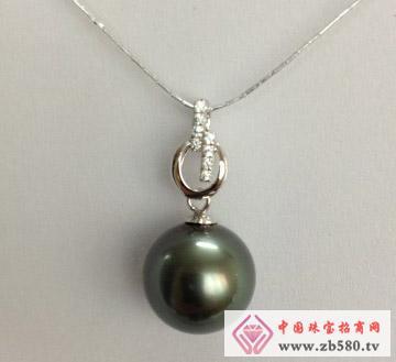 庄典珠宝--18K黑珍珠吊坠