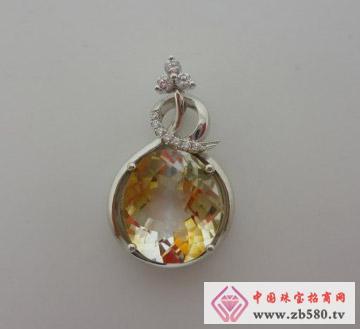 庄典珠宝--18K金黄晶吊坠