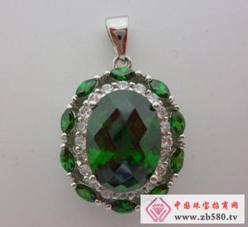 庄典珠宝--S925银祖母绿款吊坠