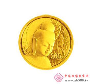 中国石窟艺术(云冈)金银纪念币