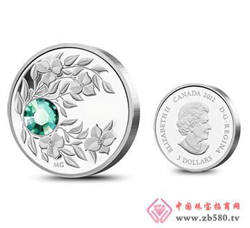 2012加拿大生日石银币