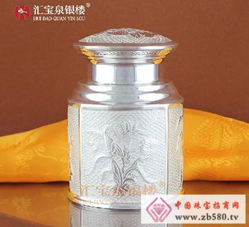 手工纯银茶具茶叶桶茶叶罐茶桶茶罐