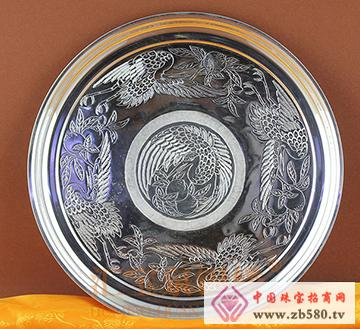 汇宝泉手工银盘纯银盘子银制品餐具