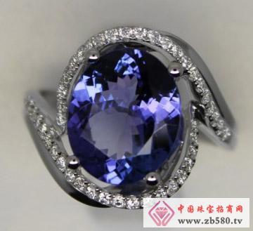 启泰珠宝--18K坦桑石戒指