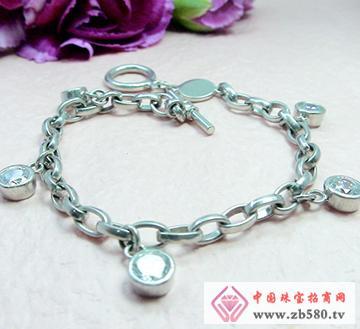 锆石镶嵌银饰手链