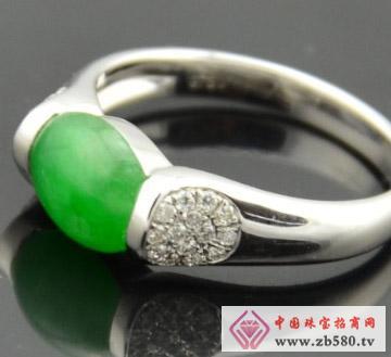 满绿色翡翠戒指-天然A货翡翠