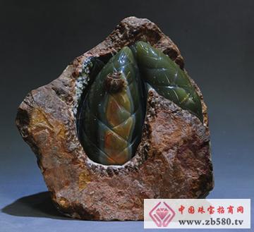 原石靠山—玉器收藏品