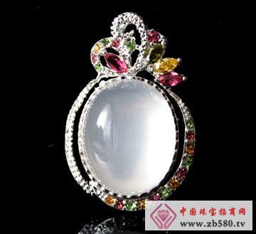 情缘水晶--冰粉粉晶镶嵌吊坠