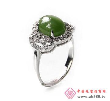 天然和田碧玉戒指-925银-完美生活