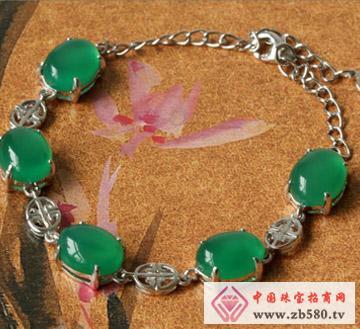 天然时尚饰品绿玉髓手链-玉髓手串