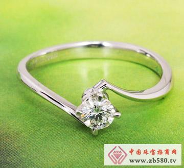 守护爱情-白18K金钻石戒指