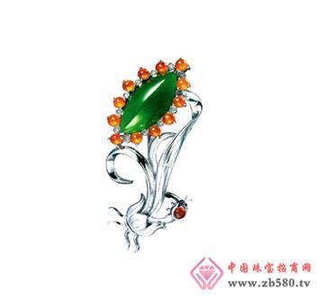 瑞钰福--翡翠胸针