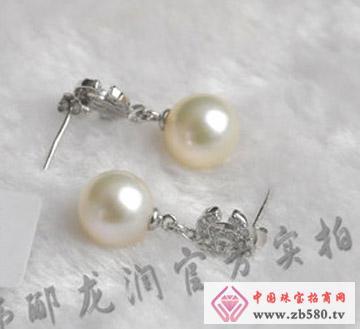 双C典藏S925镶嵌珍珠耳坠