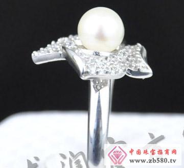花之新叶S925镶嵌珍珠戒指