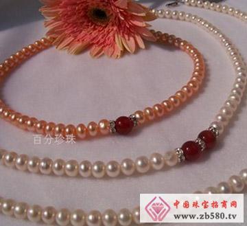 百分珍珠--珍珠项链06