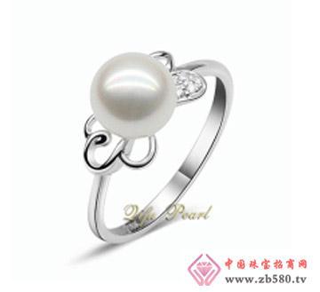 祺福珍珠--925银海水珍珠戒指
