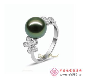 祺福珍珠--18K金大溪地珍珠戒指