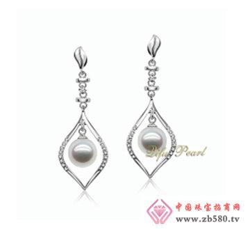 祺福珍珠--925银淡水珍珠耳环