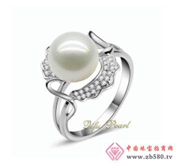 祺福珍珠--925银淡水珍珠戒指