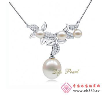 祺福珍珠--925银淡水珍珠项链
