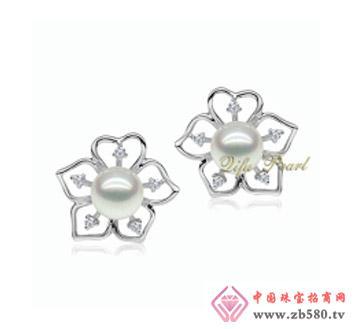 祺福珍珠--925银海水珍珠耳环01