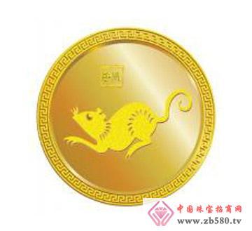 金利福.新十二生肖金币.鼠