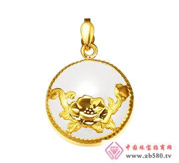 黄金吊坠-花