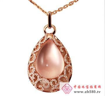 芙蓉石系列G18K玫瑰金钻石芙蓉石吊