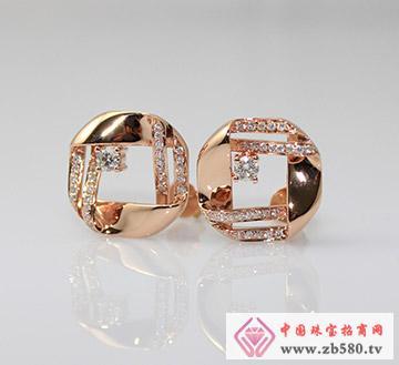 麒嘉珠宝--钻石耳钉01