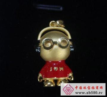 键钰轩珠宝--黄金吊坠02