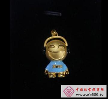 键钰轩珠宝--黄金吊坠01