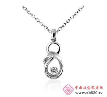 """川川珠宝""""优雅顾玲""""18k钻石吊坠"""