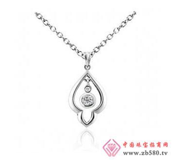 川川珠宝-水滴-钻石吊坠