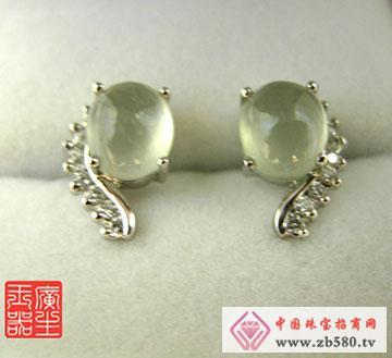 18K金镶嵌翡翠耳环
