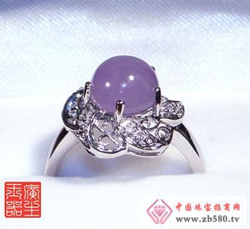 18K金紫罗兰戒指