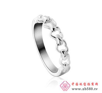 kisvi珠宝品牌925纯银情侣戒指爱相