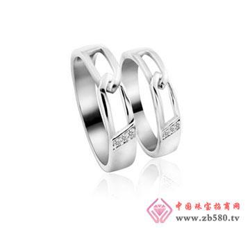kisvi珠宝品牌925纯银情侣戒指牵手