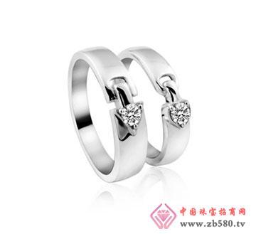kisvi珠宝品牌925纯银情侣戒指一心