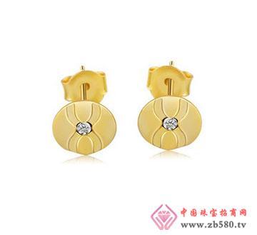kisvi珠宝品牌菏塘月色925纯银耳钉
