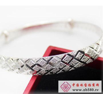 女-千足银-银镯子-时尚-银手环