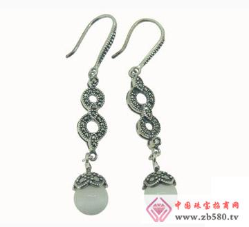 雅鑫艺首饰--925银-泰银耳吊01