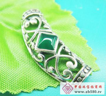 雅鑫艺首饰--925银-泰银镶石吊坠01