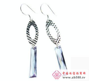 雅鑫艺首饰--925银-镶石耳吊01