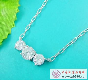 雅鑫艺首饰--925银-镶石项链