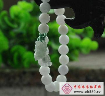灵玉-A货翡翠-貔貅手链