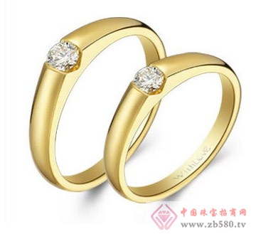 老凤黄金-钻石对戒