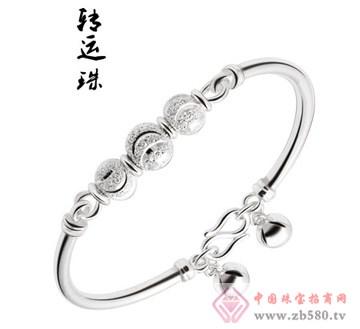 艾蒂诺银饰-纯银手镯-转运珠