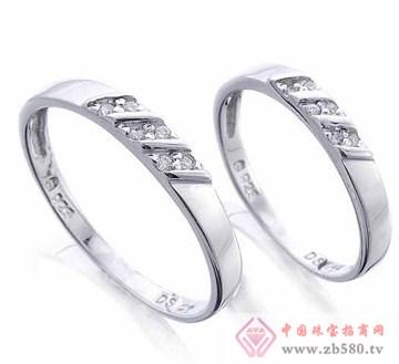 艾蒂诺银饰-纯银戒指-缘定三生